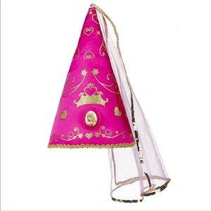 Disney Princess Aurora dress up pink cone veil hat